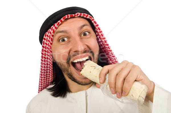 Arab man earing wrap isolated on white Stock photo © Elnur