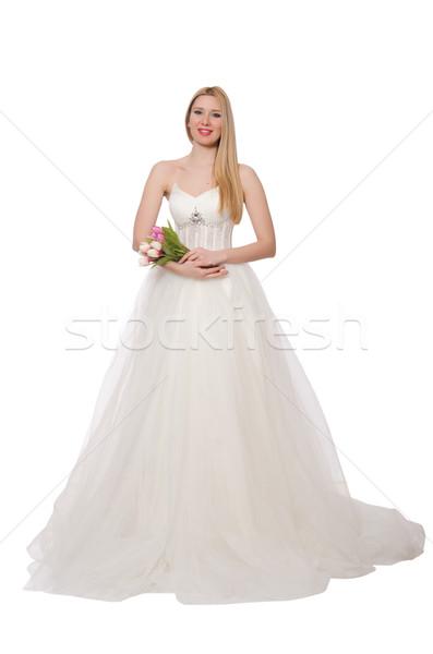 Vrouw trouwjurk geïsoleerd witte meisje bruiloft Stockfoto © Elnur