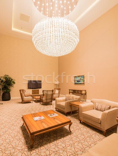 Chambre intérieur modernes meubles lumière maison Photo stock © Elnur