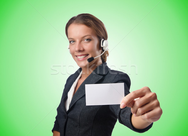 Call center operator with blank message Stock photo © Elnur