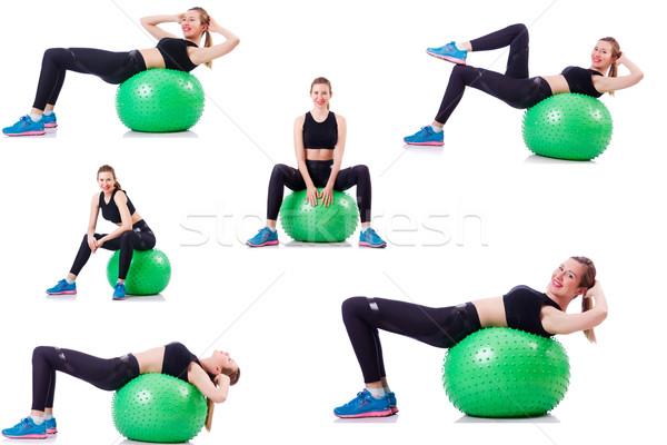 Szett fotók modell labda szexi sport Stock fotó © Elnur
