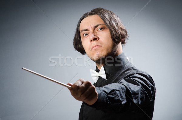 Funny conductor in musical concept Stock photo © Elnur