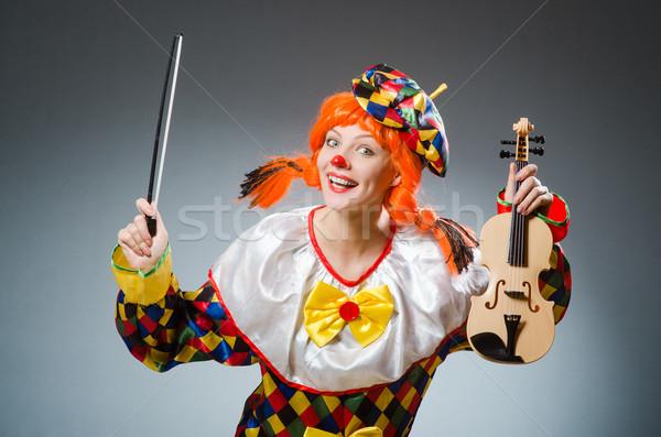 клоуна смешные темно музыку человека печально Сток-фото © Elnur