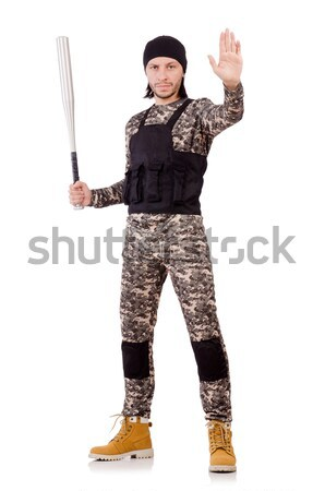 Caucasian soldier isolated on white Stock photo © Elnur