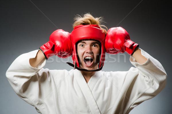 Vicces boxoló sport kéz háttér jókedv Stock fotó © Elnur