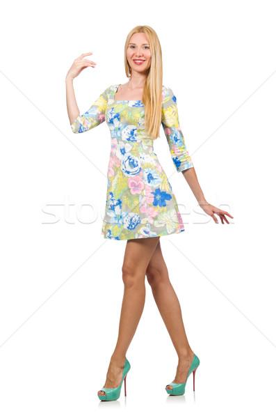 Kaukasisch vrouw jurk geïsoleerd Stockfoto © Elnur