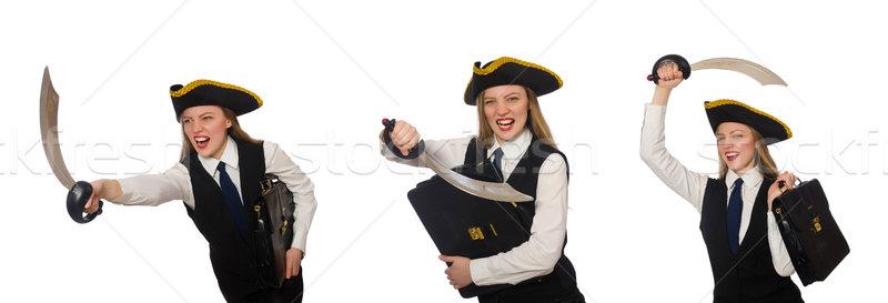 女性 海賊 孤立した 白 ビジネス 少女 ストックフォト © Elnur
