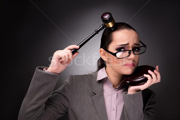 女性 裁判官 小槌 正義 ビジネス 法 ストックフォト © Elnur