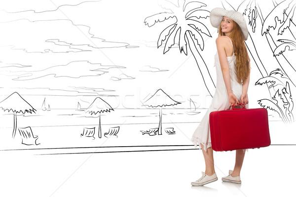 Тропический остров путешествия пляж счастливым Сток-фото © Elnur