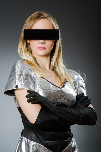 Tech woman in futuristic concept Stock photo © Elnur
