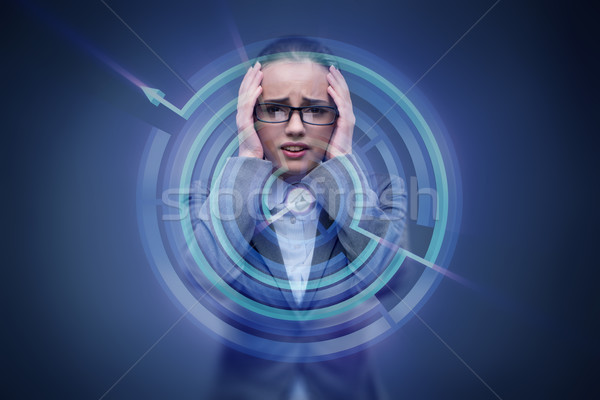Sad businesswoman lost in maze Stock photo © Elnur