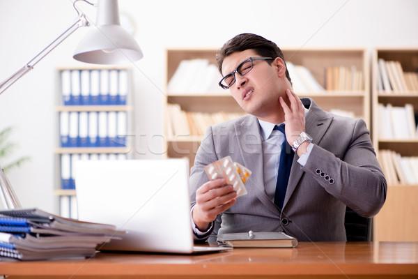 Zdjęcia stock: Chorych · biznesmen · biuro · działalności · strony · medycznych