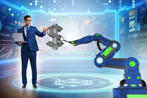 Valuta handelaar moderne business technologie Stockfoto © Elnur