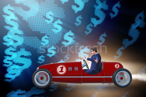 Empresário condução carro dinheiro homem financiar Foto stock © Elnur