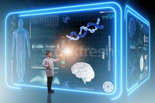 Man doctor in futuristic medicine medical concept Stock photo © Elnur
