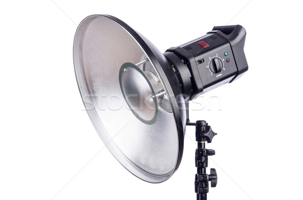 Studio light stand isolated on the white Stock photo © Elnur