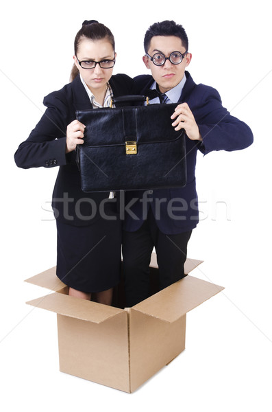 Pair of young in the box Stock photo © Elnur