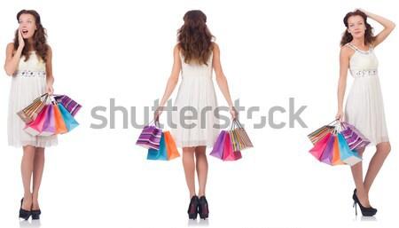 ファッション 女性 服 白 幸せ ボディ ストックフォト © Elnur