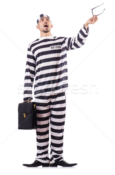Crimineel gestreept uniform business recht Stockfoto © Elnur