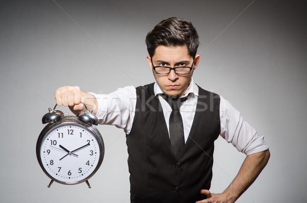 Işadamı saat zaman adam çalışmak işçi Stok fotoğraf © Elnur