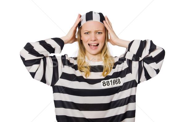 Komik hapis tutuklu polis özgürlük kadın Stok fotoğraf © Elnur