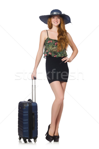 Travel vacation concept with luggage on white Stock photo © Elnur
