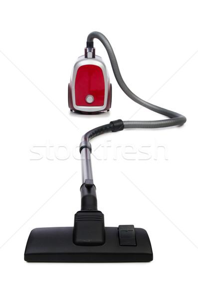 Porszívó izolált fehér otthon piros elektromos Stock fotó © Elnur