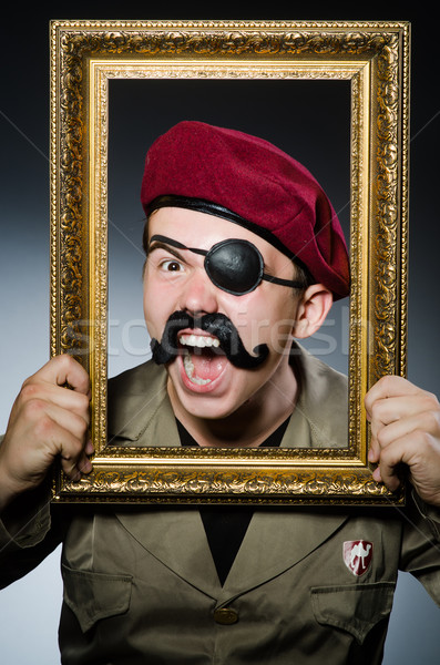 Divertente soldato militari uomo divertimento vintage Foto d'archivio © Elnur