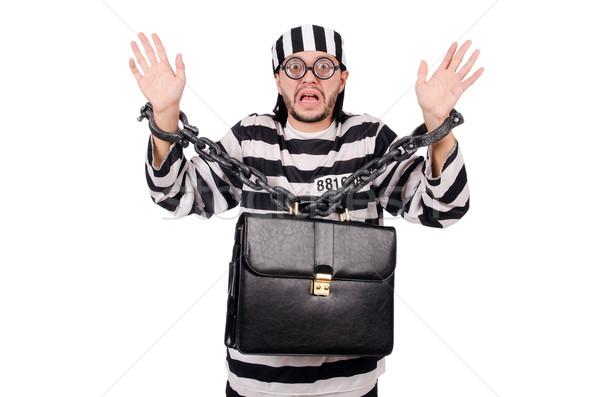 Gevangenis bewoner geïsoleerd witte business zakenman Stockfoto © Elnur