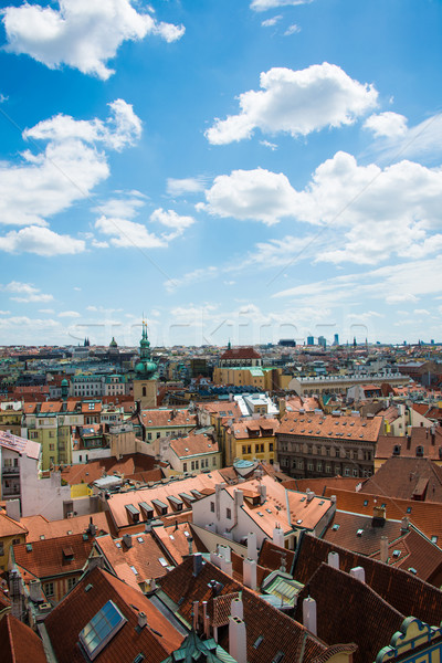 View of Prague on bright summer day Stock photo © Elnur