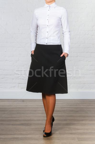 Female black office clothing isolated on white Stock photo © Elnur