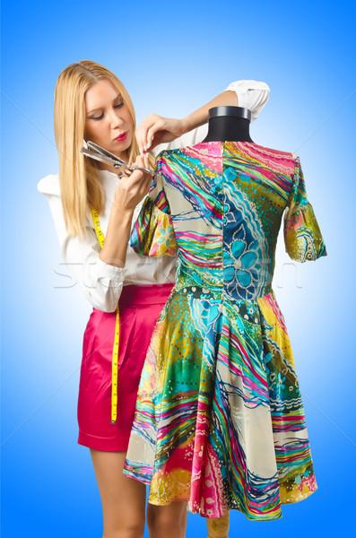女性 テーラー 作業 ドレス ファッション 作業 ストックフォト © Elnur