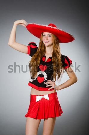 Woman pirate with sharp knife Stock photo © Elnur