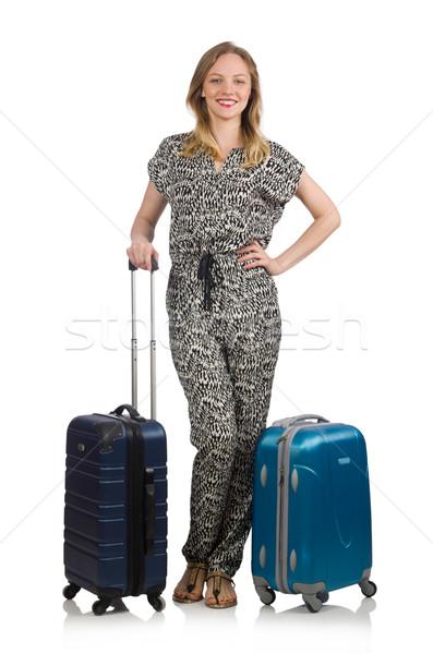 Podróży wakacje bagażu biały kobieta dziewczyna Zdjęcia stock © Elnur