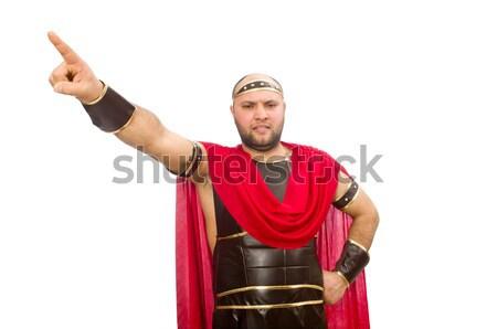 Gladiátor kalapács izolált fehér piros izom Stock fotó © Elnur