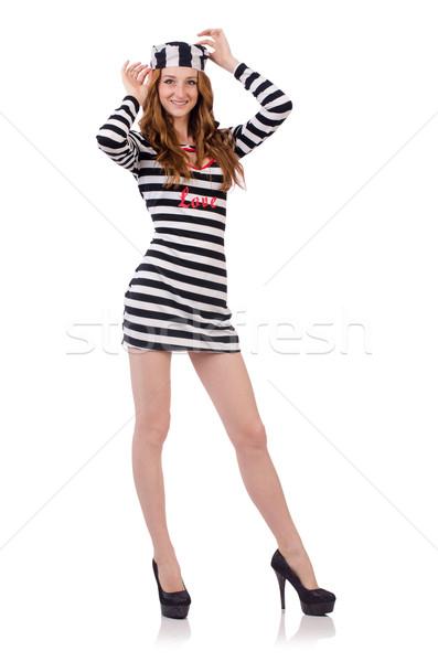 かなり 少女 囚人 ユニフォーム 孤立した 白 ストックフォト © Elnur