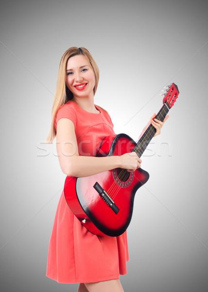 Feminino guitarrista gradiente mulher música festa Foto stock © Elnur