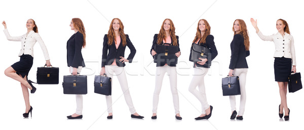 Set of photos with business woman Stock photo © Elnur