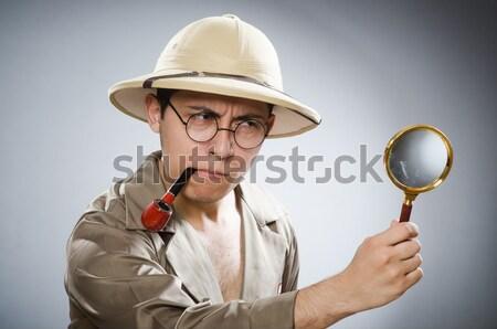 Man wearing safari hat in funny concept Stock photo © Elnur
