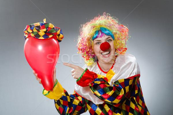 Clown ballonnen grappig gelukkig leuk regenboog Stockfoto © Elnur
