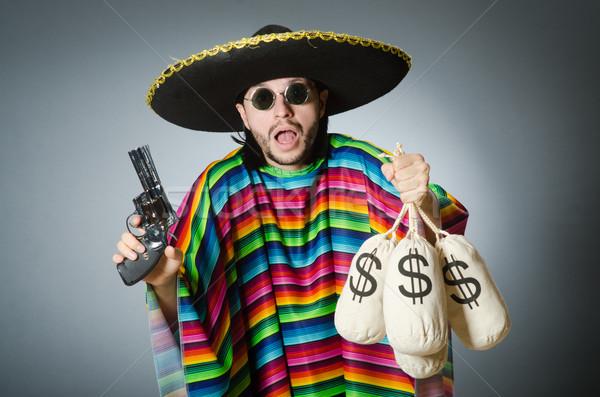 человека пушки деньги красоту портрет сумку Сток-фото © Elnur