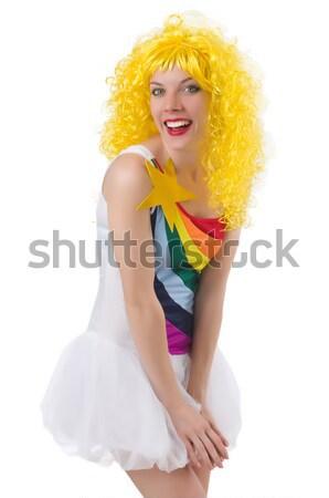 Genç kız beyaz kadın kız seksi spor Stok fotoğraf © Elnur