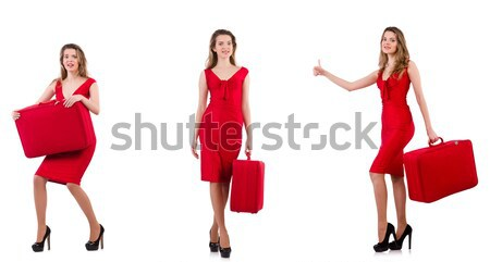 Woman in red dress isolated on white Stock photo © Elnur