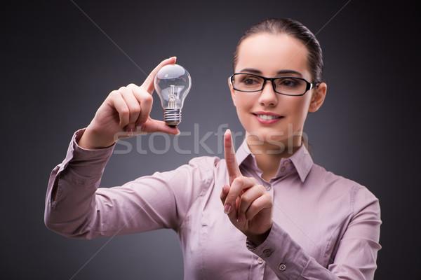 деловая женщина лампочка бизнеса стороны свет технологий Сток-фото © Elnur