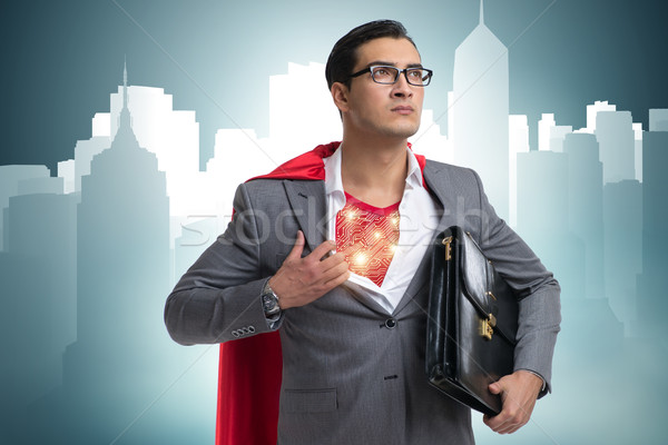 Superhero preparing to save the city Stock photo © Elnur