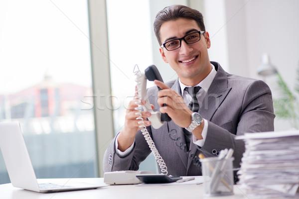 ヘルプデスク 演算子 話し 電話 オフィス コンピュータ ストックフォト © Elnur