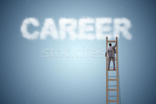 бизнесмен карьеру бизнеса небе работает ходьбе Сток-фото © Elnur