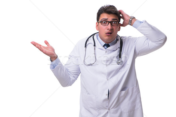 Young male doctor isolated on white background Stock photo © Elnur