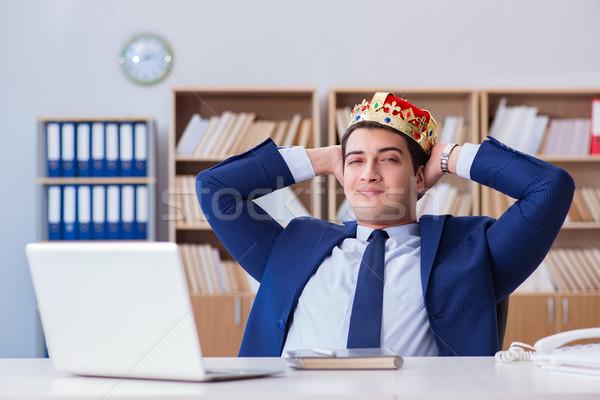 Rey empresario de trabajo oficina sonrisa feliz Foto stock © Elnur