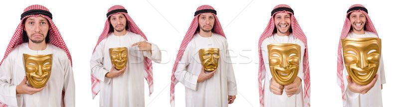 Arab in hypocrisy concept on white Stock photo © Elnur
